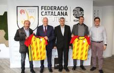 La Federació Andorrana de Futbol realitza una visita institucional a la federació catalana