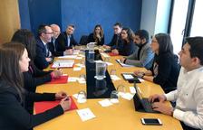 Filloy durant la reunió amb la conselleria catalana.
