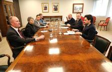 El cap de Govern i el ministre de Salut amb una delegació del PS per parlar sobre la sanitat.