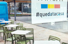 Un restaurant d'Escaldes tancat arran de la crisi sanitària.