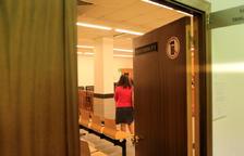 La sala número tres de la seu de la Justícia.