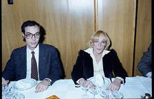 Lídia Armengol i Manel Mas van ser els impulsors de l'Institut d'Estudis Andorrans.