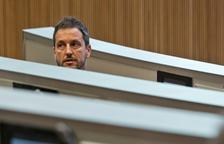 Pere López, durant la sessió del Consell d'aquest matí.