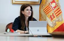 Sílvia Riva en una reunió telemàtica de la Unesco