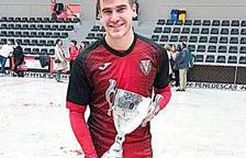 Gerard Miquel, amb la Copa Princesa.