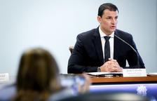 El ministre de Presidència, Economia i Empresa, Jordi Gallardo, durant la presentació.