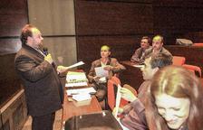 Gabriel Ubach s'adreça als assistents durant l'assemblea fundacional de l'USdA.