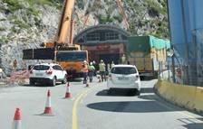 El revestiment del túnel de Tres Ponts obliga a desviar la circulació tota la setmana