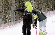 Axel Esteve torna a esquiar després de set mesos