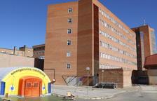 Hospital de campanya instal·lat a Lleida.