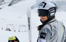 Cande Moreno torna a esquiar després de quatre mesos