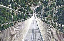 La futura passarel·la tibetana de 600 metres a Canillo.