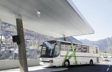 Un bus a l'Estació Nacional.