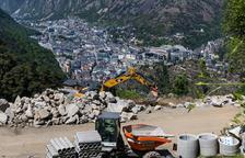 Obra en construcció en una urbanització escaldenca.