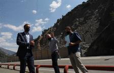 El ministre d'Ordenament Territorial, Jordi Torres, i tècnics de Govern han visitat la zona avui