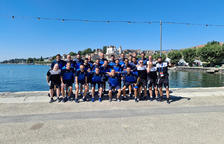 La plantilla de l'Inter Club d'Escaldes ahir a Nyon.