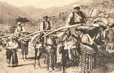 Muletiers d'Andorra a principi de segle XX.