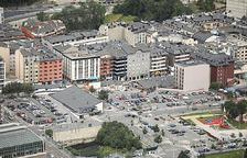 Vista d'edifics d'Andorra la Vella.