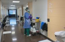 Planta de l'hospital preparada per als pacients amb Covid-19
