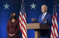 Joe Biden i Kamala Harris, futurs president i vice-presidenta dels Estats Units.