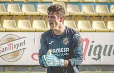Iker Álvarez de Eulate, durant un partit a la Ciutat Esportiva del Vila-real.