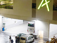 El garatge dels autocars d'Andbus.