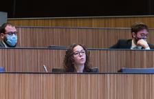 La consellera del PS Judith Salazar, a la sessió d'aquest matí.