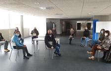 La reunió de Sílvia Riva i Justo Ruiz aquest matí