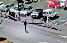 Detinguda després de bolcar el cotxe quan conduïa èbria