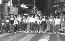 Una de les sortides de la primera Sant Silvestre, el 31 de desembre del 1993.