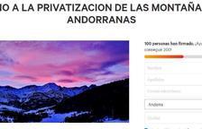 Recollida de firmes contra la privatització de les muntanyes