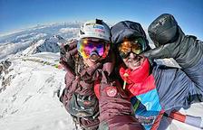 Stefi Troguet amb Sergi Mingote a l'expedició al Nanga Parbat.