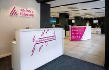 Les oficines comercials d'Andorra Telecom.