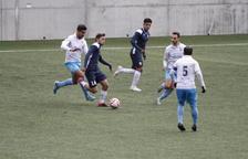 Els jugadors triclors celebren el 2-0 de Carlos Martínez.