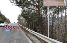 La desviació a la carretera d'Aixirivall.