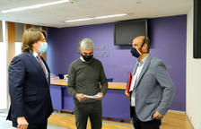 Els consellers Carles Naudi, Marc Magallón i David Montané al Consell General.