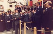 Antoni Puigdellívol rep al Copríncep Giscard d'Estaing el 19 d'octubre de 1978