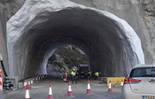 Obres al túnel de Tresponts, a la carretera C-14.
