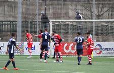 Torres, amb el dorsal 23, va ser l'autor del gol de l'FCS. Coloma