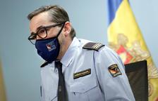 El director adjunt del cos de bombers, JordiFarré, durant la roda de premsa celebrada ahir.