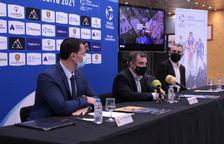 Jordi Gallardo, Josep Majoral i Agustí Pérez, a la presentació.