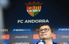 Ricard Pruna avui durant la roda de premsa de l'FC Andorra