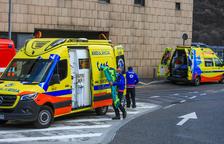 Accident de circulació entre dos cotxes a Andorra la Vella