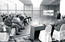Un instant de la presentació del projecte feta el 2006.