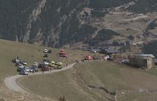 Dos joves moren per inhalació de gasos en una borda a Montaup