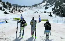 Àlex Rius i Íria Medina, campions d'Andorra d'eslàlom