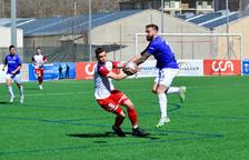 L'Inter Escaldes, en el darrer partit davant l'FCSanta Coloma.