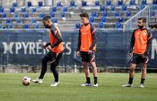 L'equip va fer una darrera sessió d'entrenament a Prada de Moles abans de viatjar a Castelló.