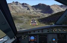 La simulació d'un vol presentada per la Cambra.