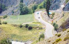 Govern reprèn els treballs a la calçada de la carretera que va al coll d'Ordino